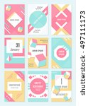 elegant modern flyers and cards ... | Shutterstock .eps vector #497111173