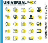set of 25 universal icons on... | Shutterstock .eps vector #497117557