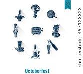 oktoberfest beer festival. long ... | Shutterstock . vector #497123323