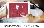 shipping logistic delivery... | Shutterstock . vector #497124757