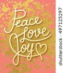 gold leaf boho chic style... | Shutterstock .eps vector #497125297