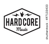Hard Core Music Badge Label....
