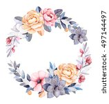 Winter Floral Wreath With...