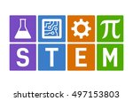 stem   science  technology ... | Shutterstock .eps vector #497153803