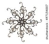 circular monochrome pattern. it ... | Shutterstock .eps vector #497154007