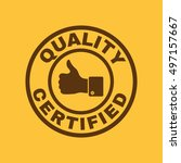 the certified quality and... | Shutterstock . vector #497157667