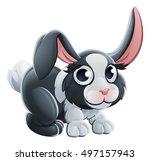 a cute cartoon rabbit animal... | Shutterstock .eps vector #497157943