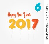 happy new year 2017 background. ... | Shutterstock .eps vector #497158843