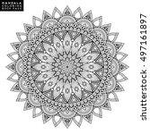 flower mandala. vintage... | Shutterstock .eps vector #497161897