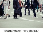 asian people are across the... | Shutterstock . vector #497180137