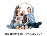 healthy asian family smiling... | Shutterstock . vector #497183707