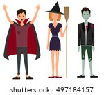 vector illustration of three... | Shutterstock .eps vector #497184157