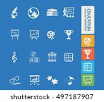 education icon set. vector | Shutterstock .eps vector #497187907
