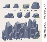 rock stone vector icon.  set of ... | Shutterstock .eps vector #497191777