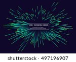 lines composed of glowing... | Shutterstock .eps vector #497196907