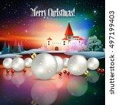 abstract christmas illustration ...   Shutterstock .eps vector #497199403