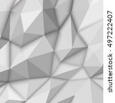 white abstract low poly ... | Shutterstock . vector #497222407
