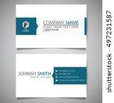 blue modern creative business... | Shutterstock .eps vector #497231587