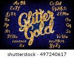 handwritten glitter gold... | Shutterstock .eps vector #497240617