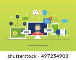 concept illustration   feedback ... | Shutterstock .eps vector #497254903