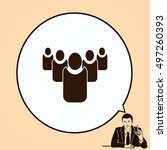 group of people icon  friends... | Shutterstock .eps vector #497260393