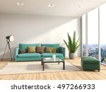 interior with sofa. 3d... | Shutterstock . vector #497266933