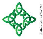 celtic cross  irish celtic knot ...   Shutterstock .eps vector #497268787