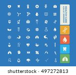 medical icon healthy care icon... | Shutterstock .eps vector #497272813
