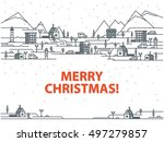 merry christmas greeting card... | Shutterstock .eps vector #497279857