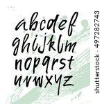 modern hand written calligraphy ... | Shutterstock .eps vector #497282743