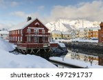 kabelvag  norway   february 15  ... | Shutterstock . vector #497291737