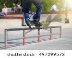 Feet Of In Line Skater In...