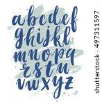 modern hand written calligraphy ... | Shutterstock .eps vector #497311597
