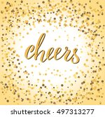 cheers word in calligraphy....
