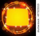 abstract shining retro light... | Shutterstock .eps vector #497325313