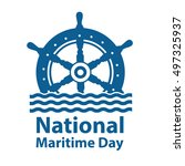 national maritime day with... | Shutterstock .eps vector #497325937
