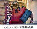 luxury handbags | Shutterstock . vector #497326237