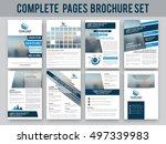 complete brochure set  template ... | Shutterstock .eps vector #497339983