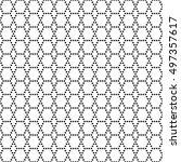 black and white seamless...   Shutterstock .eps vector #497357617