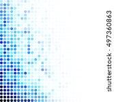 blue random dots background ... | Shutterstock .eps vector #497360863
