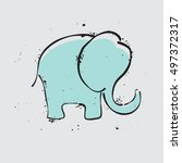 elephant icon. simple... | Shutterstock .eps vector #497372317
