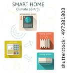 smart home  climate control...   Shutterstock .eps vector #497381803