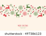 merry christmas holiday... | Shutterstock .eps vector #497386123