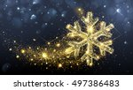 christmas card with magic... | Shutterstock .eps vector #497386483