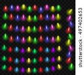 christmas light decoration set... | Shutterstock .eps vector #497402653