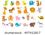 vector illustration of cute... | Shutterstock .eps vector #497412817