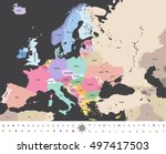 europe high detailed vector... | Shutterstock .eps vector #497417503