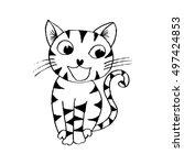 cute cat cartoon | Shutterstock .eps vector #497424853