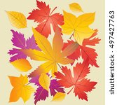 Autumn Leaves Background. Mapl...