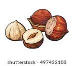 Whole And Peeled Hazelnuts ...